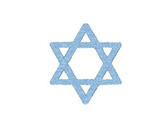 Jewish Star of David Machine Embroidery Design, Bat Mitzvah embroidery, Hanukkah embroidery, Jewish embroidery design, bar mitzvah pattern