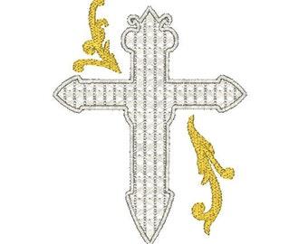 Ornate Cross Machine Embroidery Design / cross embroidery design / religious embroidery design / cross machine embroidery design