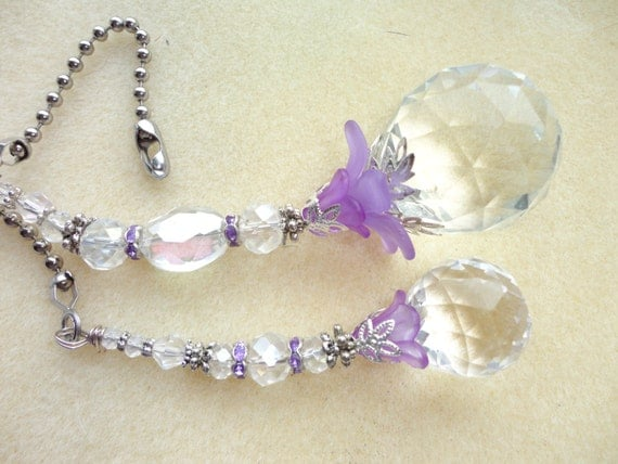 20mm And 30mm Crystal Ceiling Fan Pull Set By Jessicasjewles