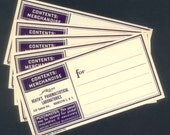 Five Vintage Apothecary Address Labels - Collage, Handmade Cards, Gift Tags, Altered Art