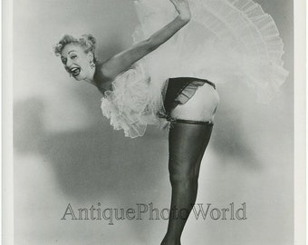 Woman cabaret burlesque dancer vintage art photo