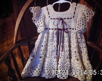 Handmade Victorian Style Hand Made Doll/Childs Dress