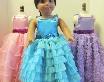 Chiffon Party Gowns for the 18in. American Girl Doll