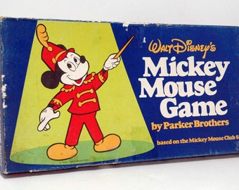 Mickey Mouse Game from Parker Brothers 1976 COMPLETE