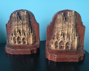 Rheims cathedral book ends