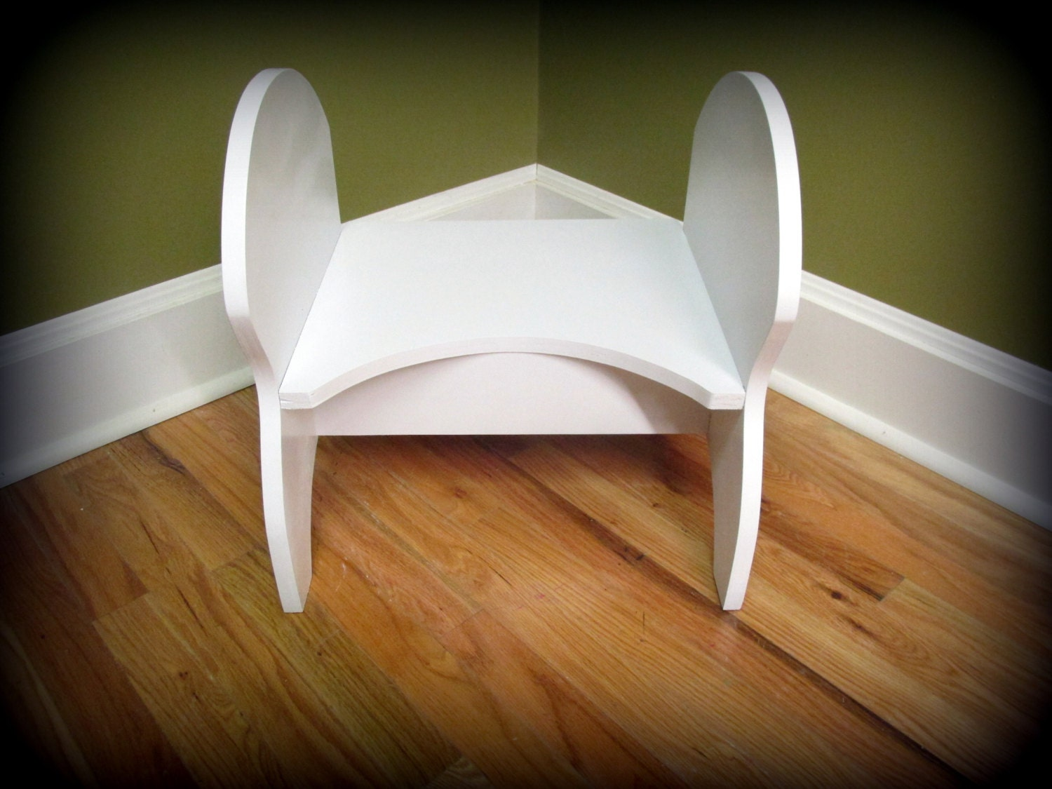 Amazing photo of potty step stool whiteblack handles by Clemswshop on Etsy with #6D4620 color and 1500x1125 pixels