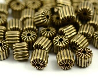 15 Pieces Antique Brass 6x6 mm Brass Bead Findings