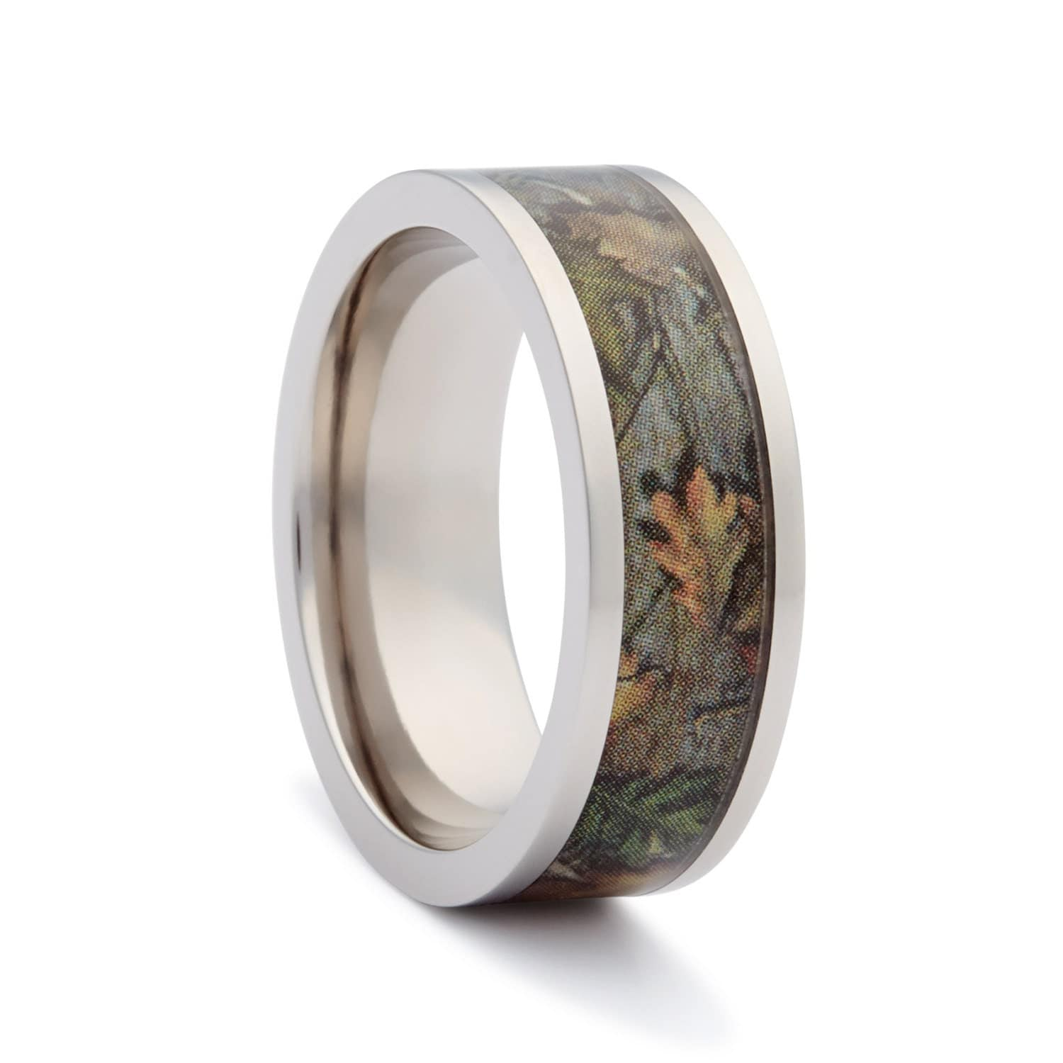 Camo Wedding Rings By ONE CAMO Flat Titanium By RusticTendencies