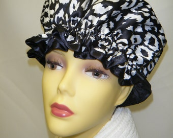 Night Cheetah Shower Cap