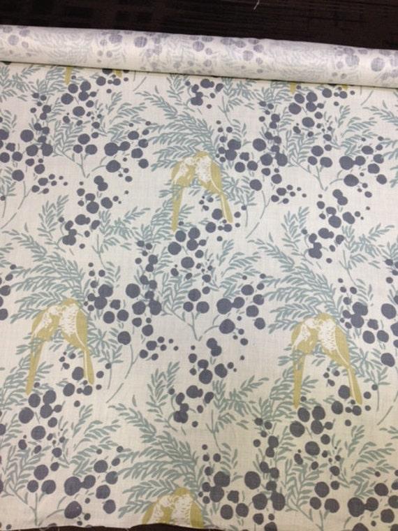 Romo Fabrics Mirabel Wasabi Love Birds Yardage # Wasbak Fabriek_155207
