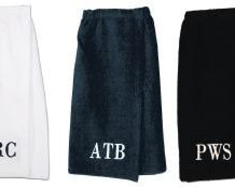 Mens Terry Velour Spa Wrap Monogrammed Gift Personalized Mens Gift