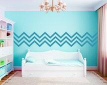 Chevron Border Vinyl Wall Decals Graphics Bedroom Home Decor