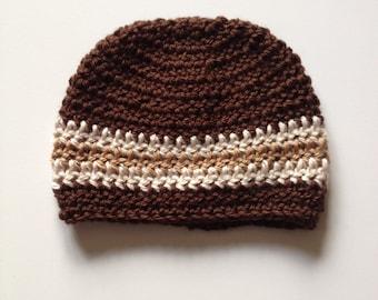 Crochet Baby Beanie, 0-3 Months