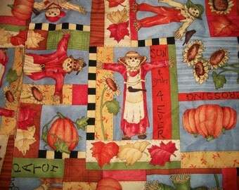 Pumpkin Scarecrow Fabric Character Patch Leslie Beck for Springs Global US Inc. Halloween Thanksgiving Harvest