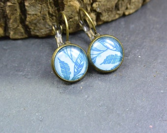 Earrings blue Natur