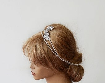 Bridal Hair Accessories,  Bridal Rhinestone Headband, Wedding hair Accessory, Rhinestone Hair Wrap Headband