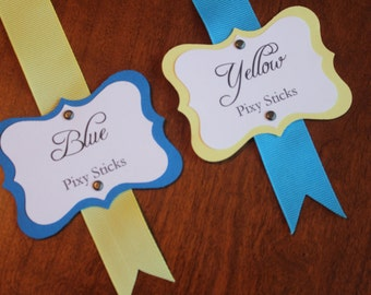 Blue & Yellow Candy Tags