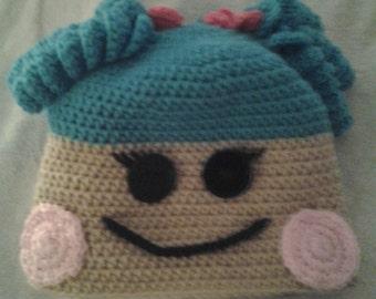 Crochet Lala loopsy inspired hat girls handmade