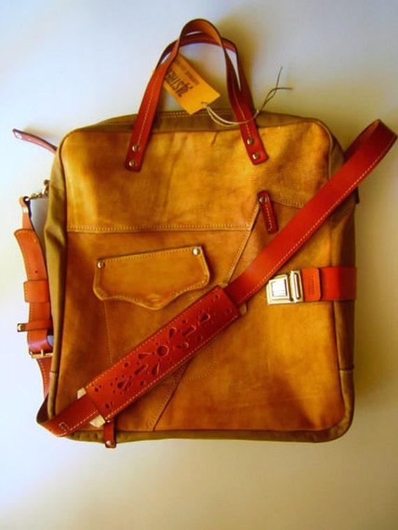 Medium Size City Bag,-Double compartimented, Brushed Genuine Leather Bag, Genuine Leather Handmade Bag, Laptop bag,Tote Bag