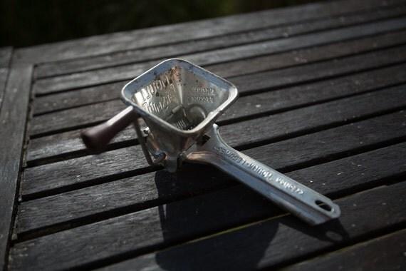 Hand Grinders For Metal ~ Hand grinder metal herb or old cheese grater vintage