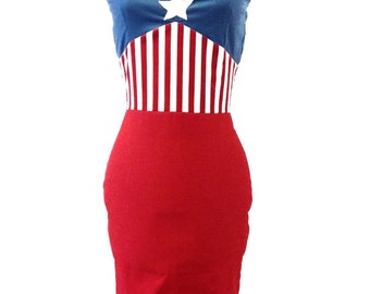 Captain America inspired cosplay dress