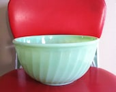 "Fire King 9"" Swirl Jadeite Bowl"