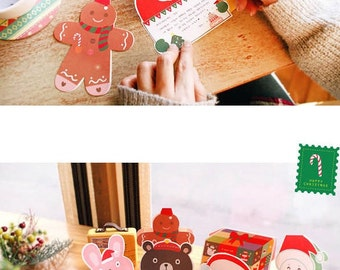 Christmas Cards  with Envelope - 10 Cards  + 10 Envelopes + 12 Stickers