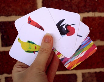 Catch that Bird! - A Bird Pair Memory Matching Card Game - Educational Concentration Game