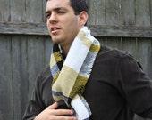 Handwoven knit scarf - City Slicker - S/M unisex