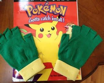 POKEMON GO -Trainer  gloves - ASH Ketchum  Costume  -  Teen/ Adult size  - Cosplay