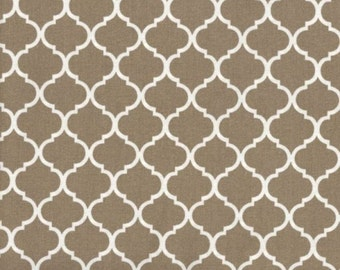 Mini Quatrefoil Fabric ~ Khaki Quatrefoil ~ Fabric By The Yard ~ Moroccan or Geometric Style Fabric