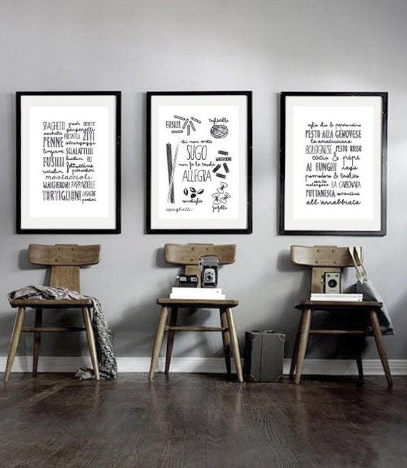 Items similar to set of prints italian kitchen poster for Italian kitchen prints