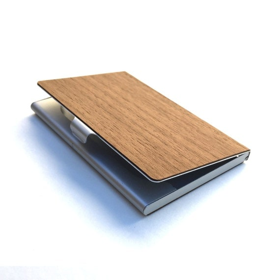 TIMBER Wood Skin Business Card Holder Free by Nanogramstore