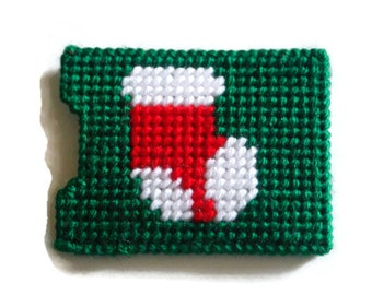 Plastic Canvas Gift Card Holder // Stocking on Gift Card Holder // Christmas Gift  card Holder // Christmas Stocking Stuffer