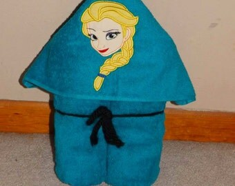 Elsa hooded towel
