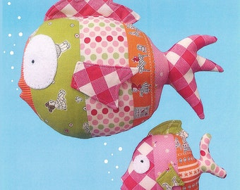 Pattern ''Under the Sea'' Fish, Fishies Soft Sculpture, Stuffed Toy, Softie, Cloth Toy Sewing Pattern by Melly & Me (MM-039)