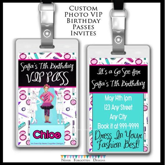 Fashionista Fashion Modeling Tween Teen Vip Photo Passes Badges