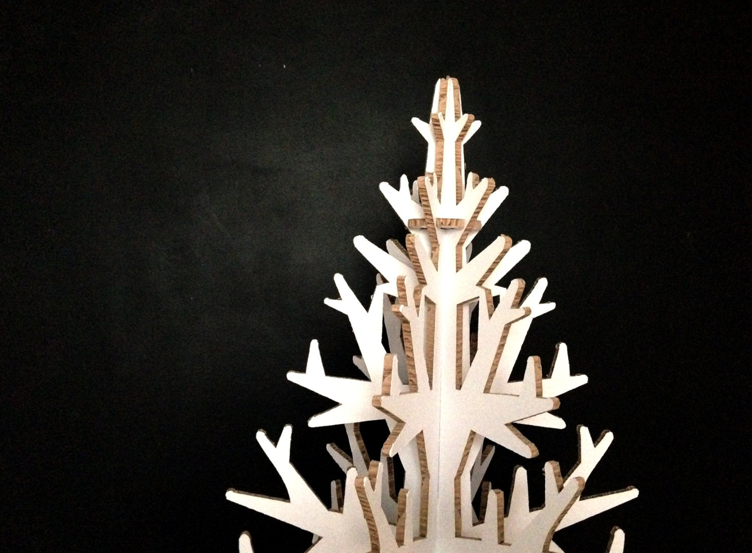 M size WHITE cardboard christmas tree