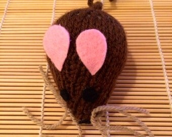 Little Knitted CatNip Mouse Toy