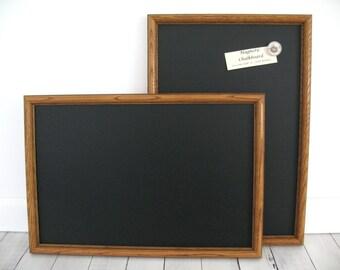 Two MATCHING CHALKBOARDS Solid Oak Framed MAGNETIC Wedding Sign Kitchen Blackboard Photo Brown Wood Frame Restaurant Menu Chalk Board Magnet