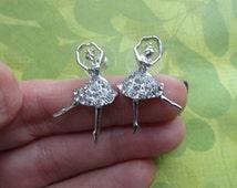 Ballerina crystal stud earrings