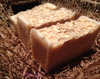 Oatmeal, Honey & Milk Soap - Gentle Silky Scrub