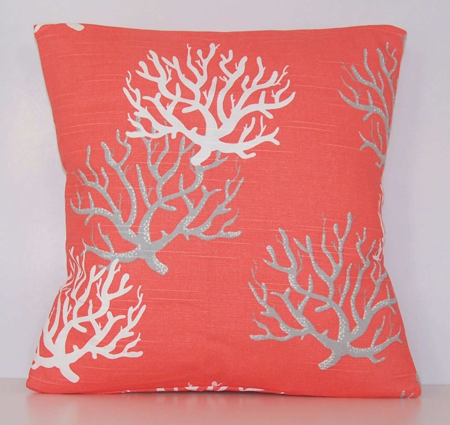 coral pillow cover salmon pillow euro various sizes. Black Bedroom Furniture Sets. Home Design Ideas