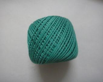 6 Strand (Ply) Sea green  Cotton Thread / Yarn - Cross Stitch / Embroidery - 10 gm