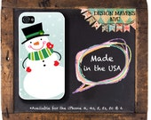 Snowman iPhone Case, Holiday iPhone Case, Fits iPhone 4, iPhone 5, iPhone 5s, iPhone 5c, iPhone 6, Phone Case, Phone Cover