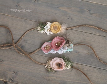Whimsy petal tiebacks