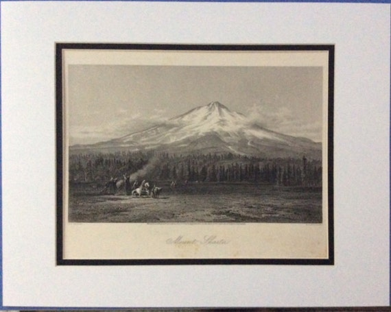 picturesque america  u0026 39 mount shasta u0026 39  1872 steel