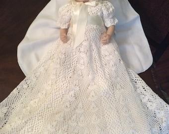 Heirloom Vintage style Christening gown crochet pattern, blessing crochet pattern, blessing gown, baptism gown, crochet blessing pattern