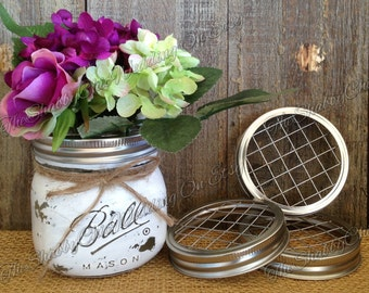 Set Of 3 Frog Lids For Mason Jars, Mason Jar Lids, Flower Lids, Frogs, Floral Supplies, Mason Jar Lids