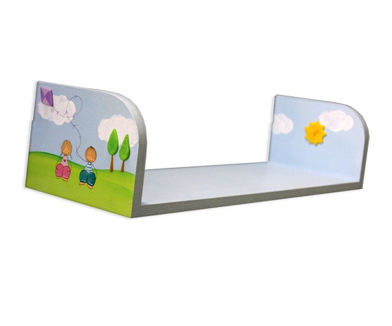 Items similar to kids shelves nursery wall decor for Kitchen cabinets lowes with nursery decor wall art